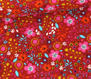 Jersey - Floral Summer Feelings - Rotorange