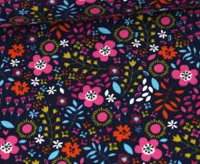 Jersey - Floral Summer Feelings - Stahlblau