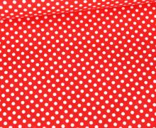 Baumwolle - Webware - Punktelino - Rot/Weiß