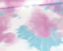 Modal Jersey - Tie-Dye Love - Batik - Rosa/Türkis - abby and me