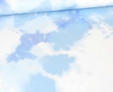 Sommersweat - Bio Qualität - Tie-Dye Love - Batik - Blau - abby and me