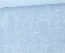 Ramie - Naturfaser - Stonewashed - Uni - Pastellblau