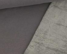 Alpenfleece - Kuschelstoff - Uni - 280g - Grau