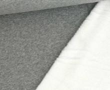 Alpenfleece - Kuschelstoff - Uni - 280g - Hellgrau Meliert