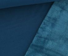 Alpenfleece - Kuschelstoff - Uni - 280g - Meerblau