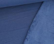 Alpenfleece - Kuschelstoff - Uni - 280g - Taubenblau