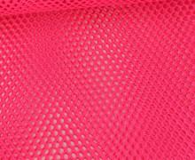Fester Netzstoff - Uni - Durchsichtig - Neonpink
