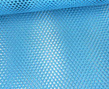 Fester Netzstoff - Uni - Durchsichtig - Cyanblau