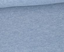 Jersey Smutje - Hell Meliert  - 150cm - Taubenblau