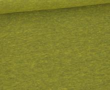 Jersey - Dunkel Meliert  - 150cm - Gelbgrün