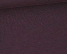 Jersey - Dunkel Meliert  - 150cm - Bordeauxviolett