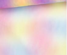 Feiner Tüllstoff - Weich - Verlauf - Regenbogen - Streifen - Gelb/Pink/Blau