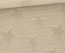 Jacquard - Waffel-Sterne - Baumwolle - Sand