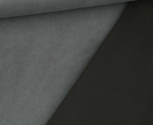 Velours - Scuba - Uni - Grau