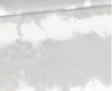 Modal Jersey - Tie-Dye Love - Batik - Streifen - Hellgrau - abby and me