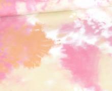 Sommersweat - Tie-Dye Love - Batik - Rosa/Gelb/Koralle - Bio Qualität - abby and me