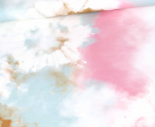 Sommersweat - Tie-Dye Love - Batik - Senf/Mint/Rosa - Paneel - Bio Qualität - abby and me