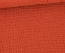 Musselin Lotta – Muslin – Uni – Double Gauze – 120gr – Schnuffeltuch – Windeltuch – Rostorange Hell
