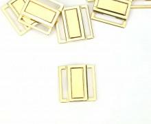 1 Bikiniverschluss - Flach - Metall - Gold