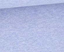 Organic Cotton Interlock Baumwolljersey - Uni - Pastellblau Melange