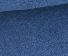 Teddystoff - Baumwolle - Uni - Jeansblau
