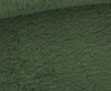 Teddystoff - Baumwolle - Uni - Schilfgrün