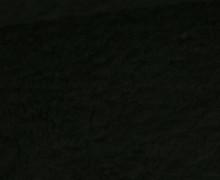 Teddystoff – Baumwolle – Uni – Schwarz