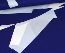 Viskose - Blusenstoff  - Rush - Mind The Maker - Blau/Weiß