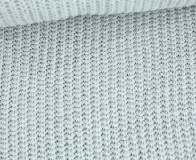 Weicher Seemanns Strick - Strickstoff - Baumwollmischgewebe - Uni - Lichtgrau