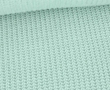 Weicher Seemanns Strick - Strickstoff - Baumwollmischgewebe - Uni - Lichtgrün Hell