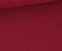 Organic Cotton Interlock Baumwolljersey - Uni - Dunkelrot Melange