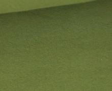 Baumwoll-Fleece - Uni - 270g - Olivgrün