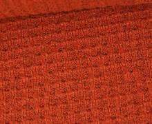 Waffelstrick - Strickstoff - Meliert - Orange Dunkel