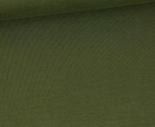 Bambus-Jersey - Uni  - Olivgrün