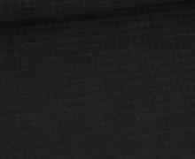 Waffel Piqué - Baumwolle - Schwarz