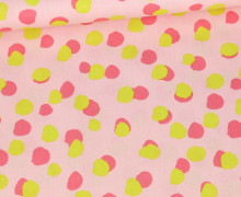 Baumwolle - Webware - Poplin - Colorful Dots - Poppy - Pastellrosa