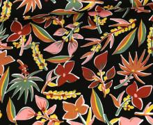 Viskose - Blusenstoff - Colorful Floral Design - Penelope - Schwarz
