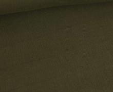 Babycord - Feincord - Washed-Look - Uni - 160g - Olivgrün