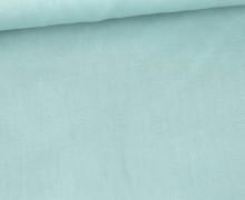 Baumwolle - Popelin - Webware - Uni - 145cm - Pastelltürkis