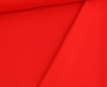 French Terry - Sweat - Leicht Geraut - Uni - Rot