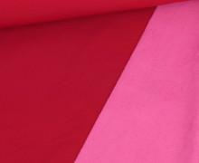 Softshell – Fleece – Uni – Dunkelrot/Rosa