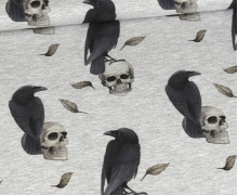 Jersey - Spooky Nature - Dreadful Crows - Grau Meliert - abby and me