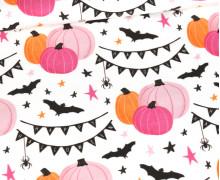 Sommersweat - Süßer Spuk - Gruselfest - Rosa/Orange - Weiß - Halloween - Bio Qualität - abby and me