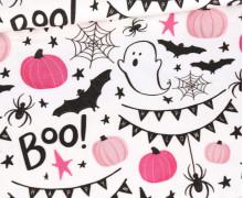 Sommersweat - Süßer Spuk - Gruselwusel - Rosa - Weiß - Halloween - Bio Qualität - abby and me