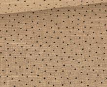 Musselin - Muslin - Pünktchen - Slub Washed - Double Gauze - 115gr - Schnuffeltuch - Windeltuch - Braun