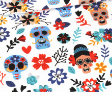 Jersey - Halloween - Sassy Skulls - Weiß - Bio-Qualität - abby and me