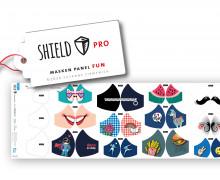 Antimikrobieller Jersey - SHIELD Panel Fun (Rund) - Behelf-Mund-Nasen-Schutz - 12 Masken Designs - Hamburger Liebe