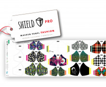 Antimikrobieller Jersey - SHIELD Panel Fashion (Rund) - Behelf-Mund-Nasen-Schutz - 12 Masken Designs - Hamburger Liebe