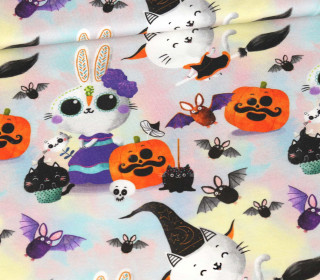 Modal Jersey - Halloween - Immortal Animals - Bunny n' Witch - abby and me