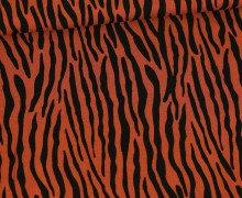 Viskose - Blusenstoff - Radiance - Tigermuster - Rostorange